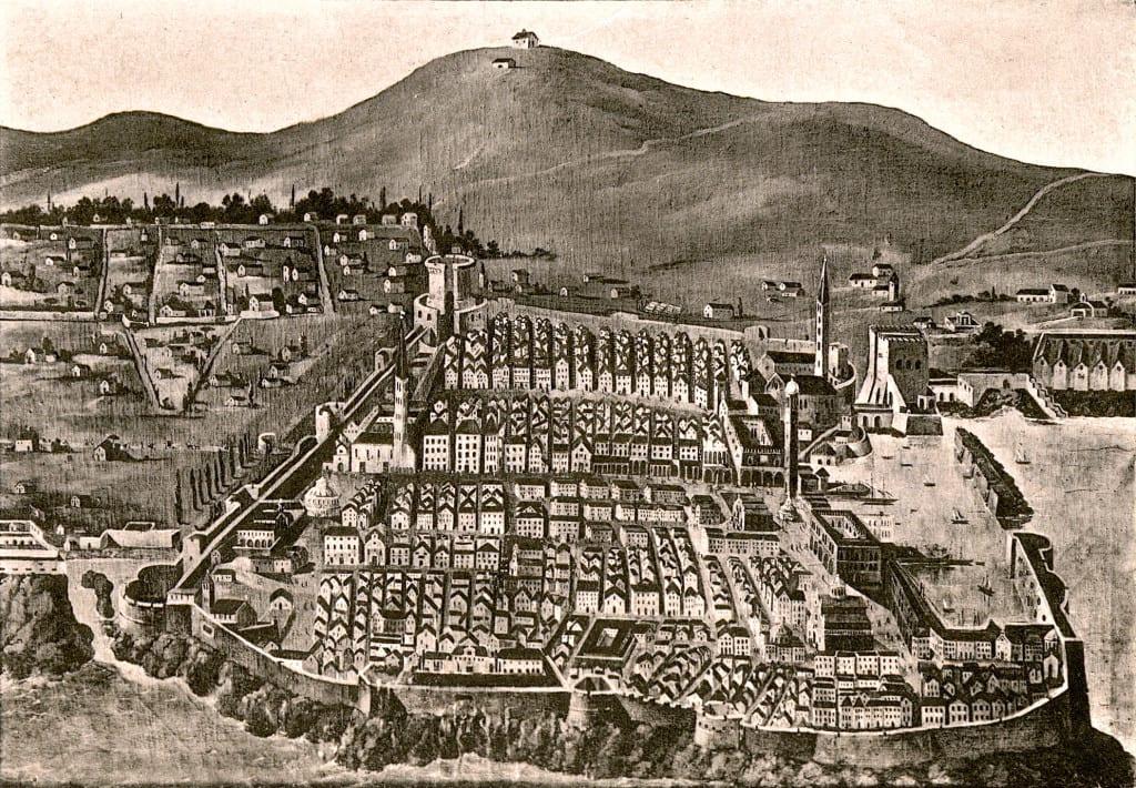 Grabado de la Ragusa medieval