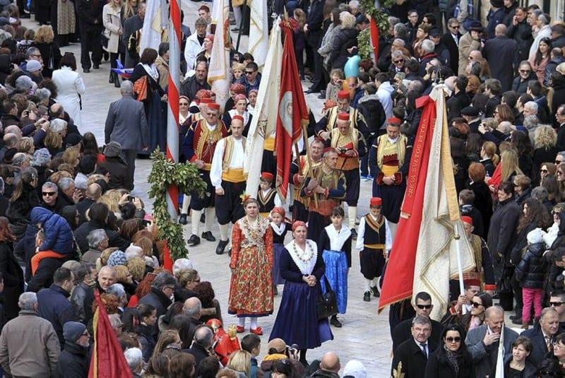 Procesión del día de San Blas en Dubrovnik