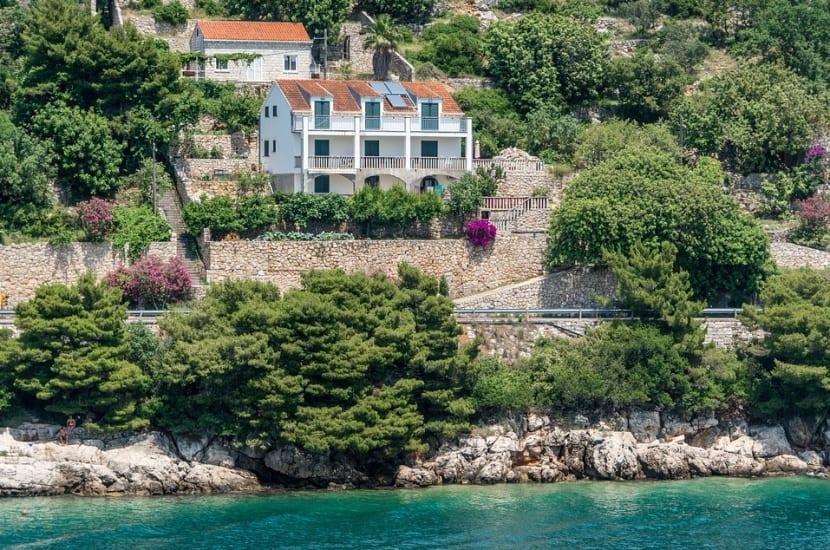 Ciudad Dubrovnik desde el mar