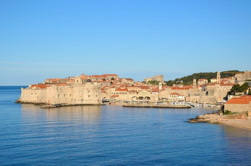 Vistas de la ciudad desde el mar